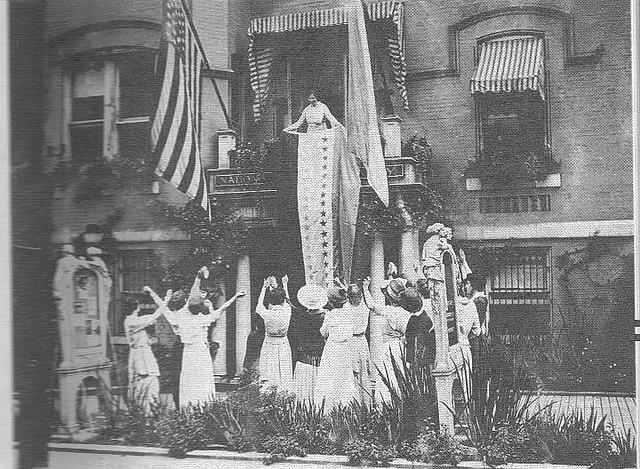 women feminism protest vintage 19th amendment equal rights