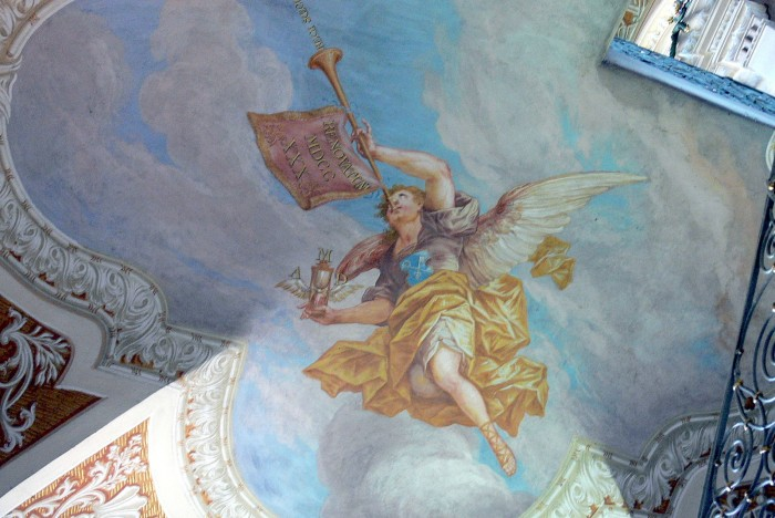 Oberaltaich_-_Klosterkirche_Fresco_Posaunenengel