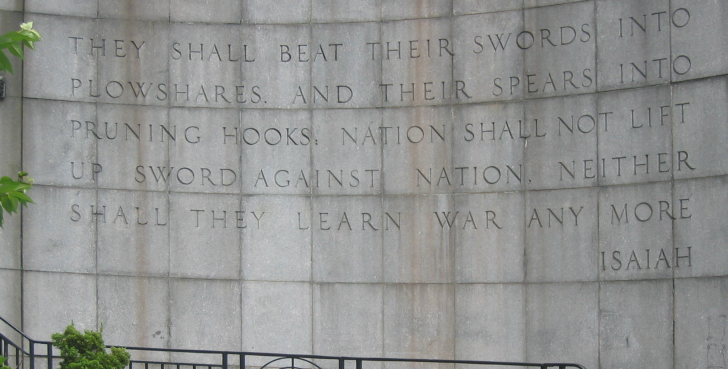 Outside the U.N. building in New York
