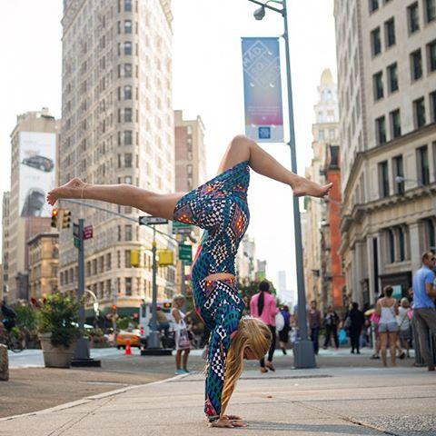 Rachel Brathen handstand New York do not reuse