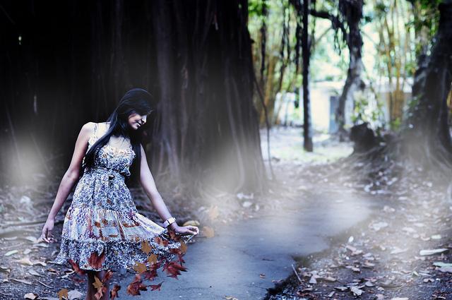 girl woods