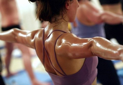 hot yoga woman sweat