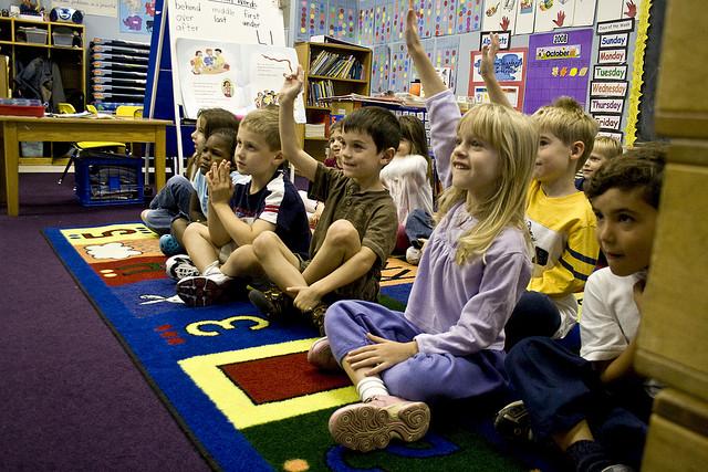 kindergarten school class kids