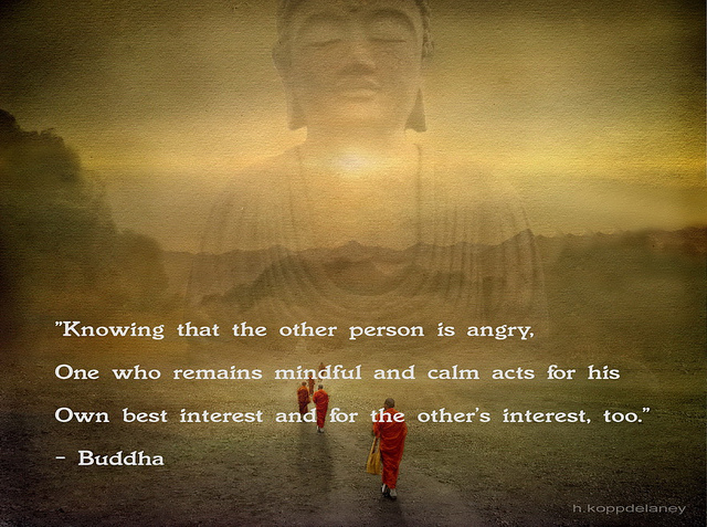 mindful buddha meditation quote
