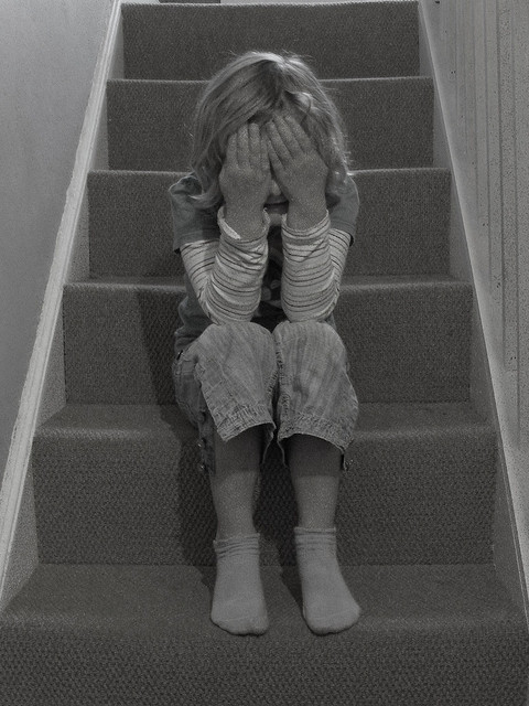 tantrum on stairs