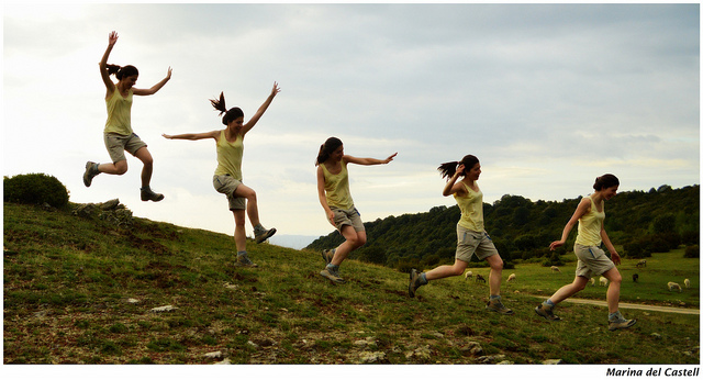 vitality jumping happiness