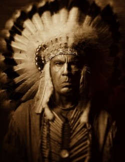 John Malkovich by Sandro Miller - Three Horses by Edward S. Curtis