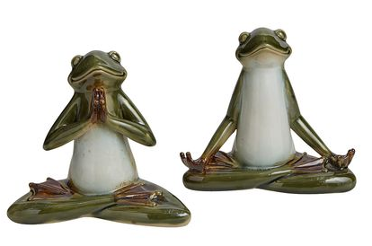 Porcelain frogs and yogis can be too fragile