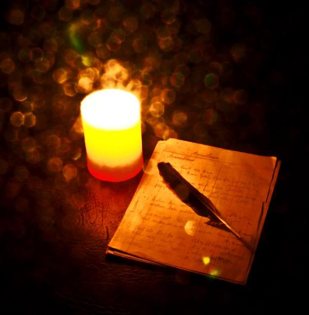 candle write writing pen JPG