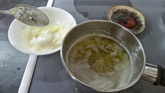 ghee on stove cooling