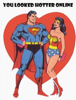 hotter online dating superman wonder woman funny