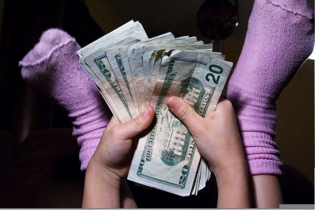 money allowance socks feet