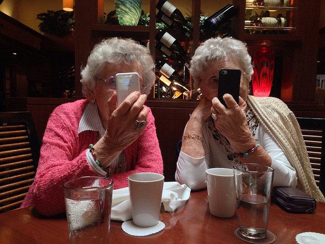 old lady selfies