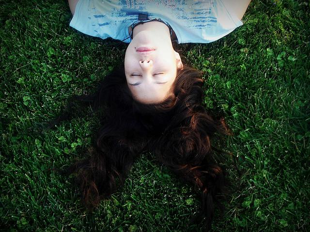 quiet zen peace sleep girl