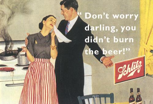 sexist vintage ad beer