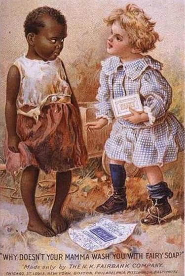 vintage ad racist babies