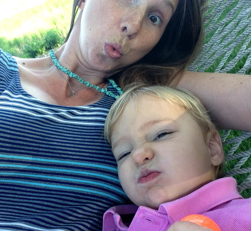 Sarah Studebaker and child