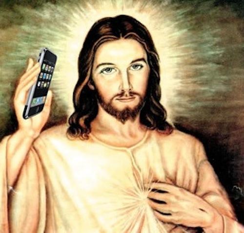 cell phone Jesus