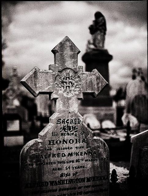 death gravestone cross
