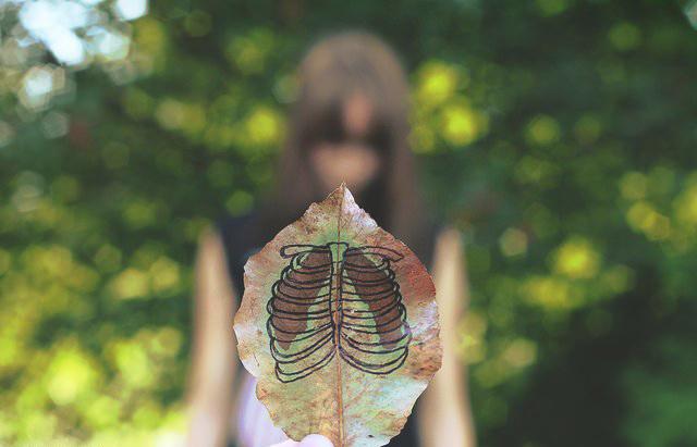 girl leaf