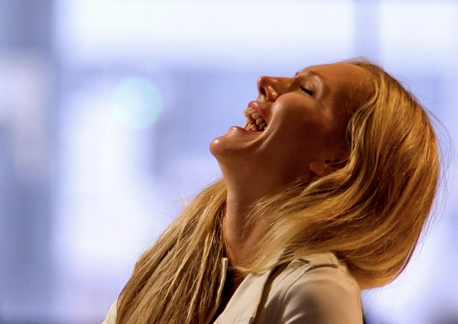 laughing, happy, woman