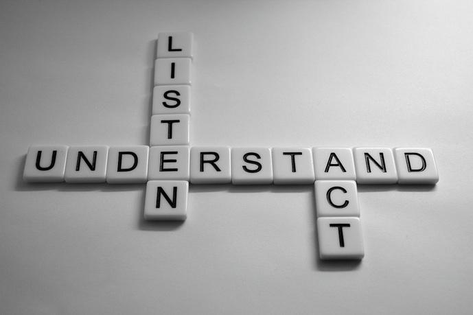 listen, understand, act, love,