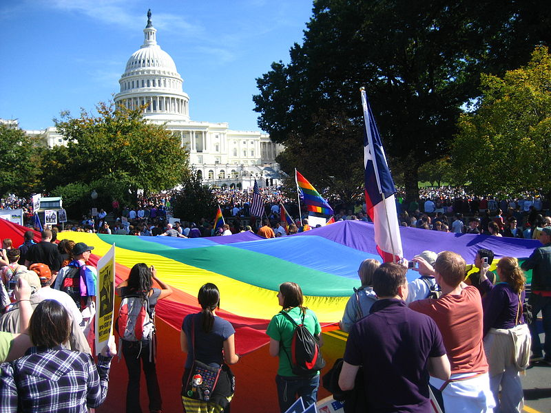 http://commons.wikimedia.org/wiki/File:National_Equality_March_2009.jpg