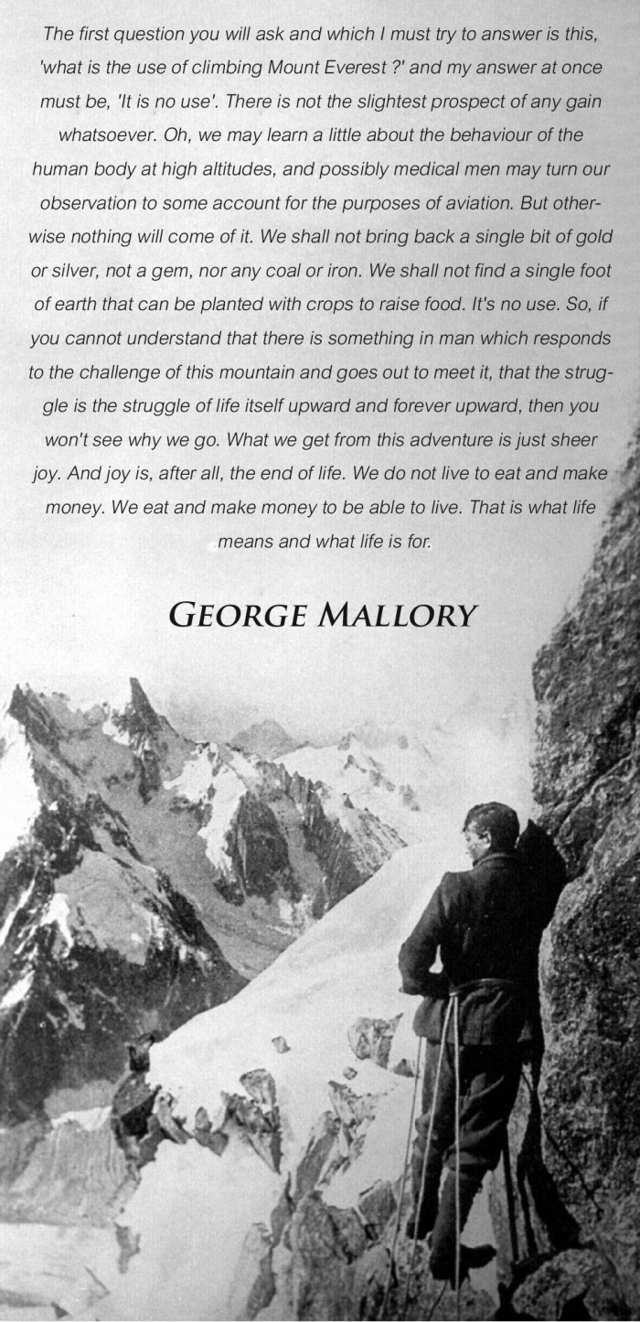 climbing adventure mallory quote