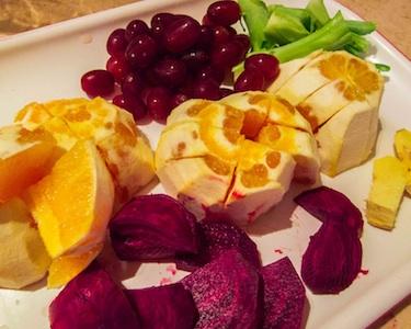 Cut fruit and veggies