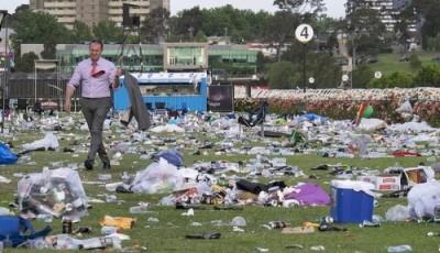Melbourne Cup 2014 rubbish garbage trash 4