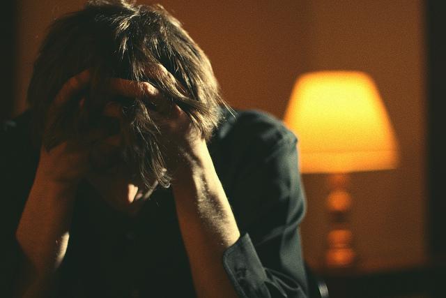 man sad grief tired