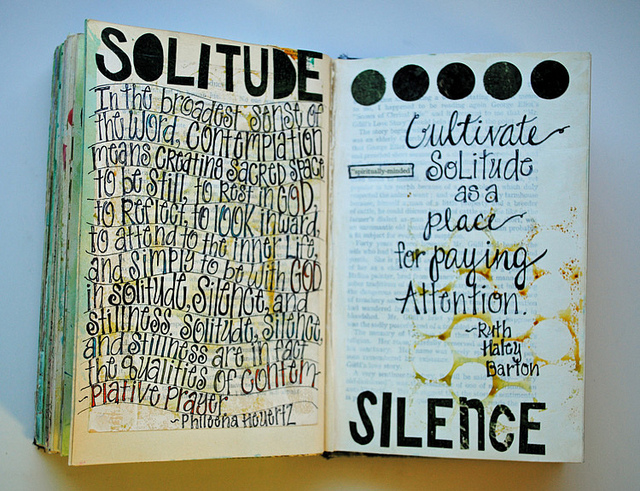 silence, solitude, quiet, journal