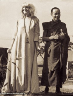 Zina Rachevsky with Lama Yeshe at Altomont House, 1967