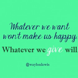 happiness give