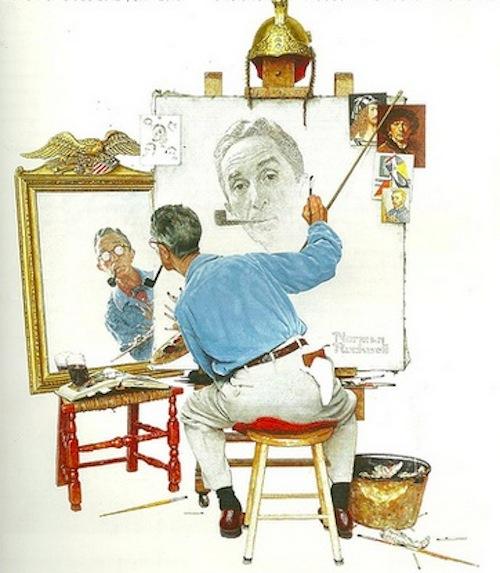 Norman Rockwell self-portrait