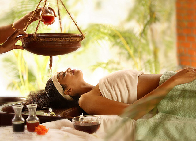 ayurveda healing woman