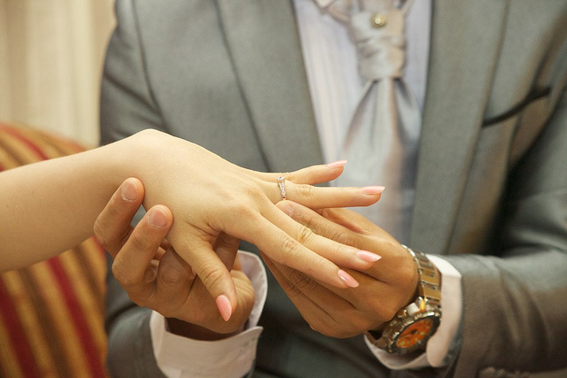 engaged marriage love couple ring
