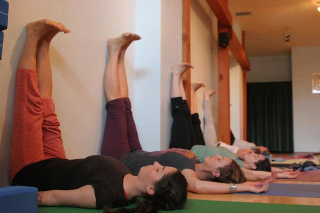 legs wall yoga