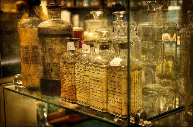 natural remedies vintage bottles
