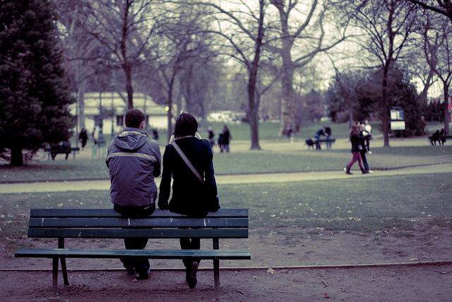 park couple break up