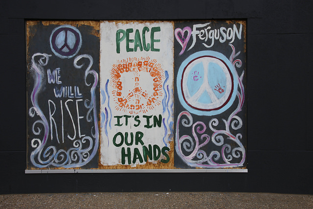 peace ferguson mural