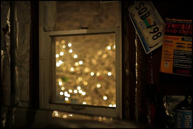 sad depress holiday lights