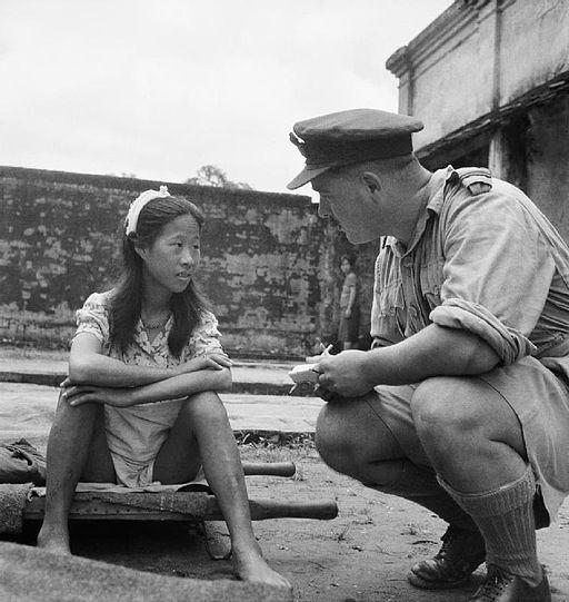 soldier helping girl service community alienation