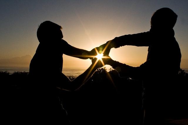 sunrise hold hands