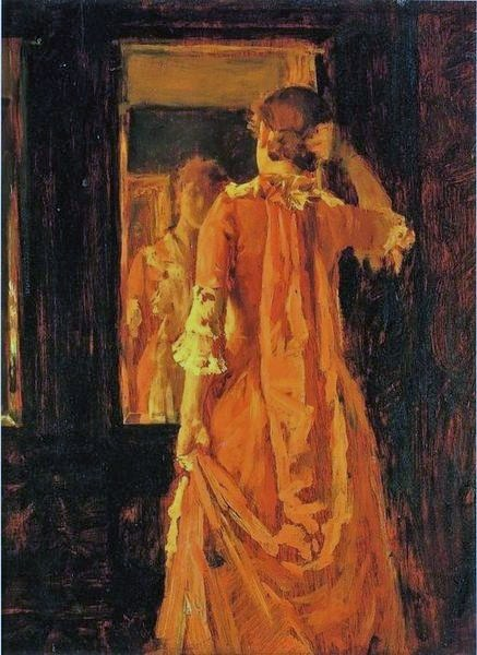William_Merritt_Chase_(1849_-_1916)_Young_Woman_Before_a_Mirror