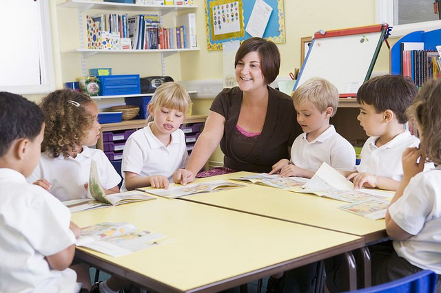 kids in classroom teacher