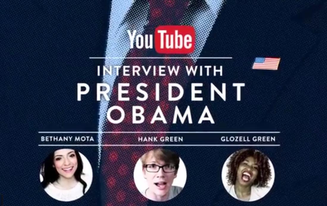 president obama youtube interview screenshot