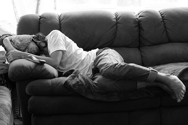stranger on couch