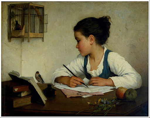A_Girl_Writing;_The_Pet_Goldfinch_-_Google_Art_Project