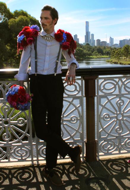 flower guy city scape